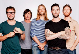 L-R: Mickey Madden, Matt Flynn, James Valentine, Adam Levine and Jesse Carmichael