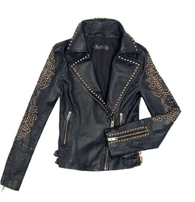 Studded leather jackt from Zara, £239 GBP