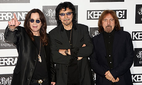 Pictured from left to right; Ozzy Osbourne, Tony Iommi, Geezer Butler