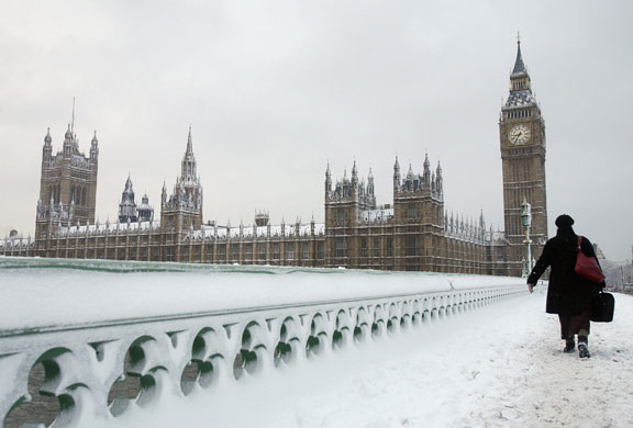 Snow in London, not in 2013.