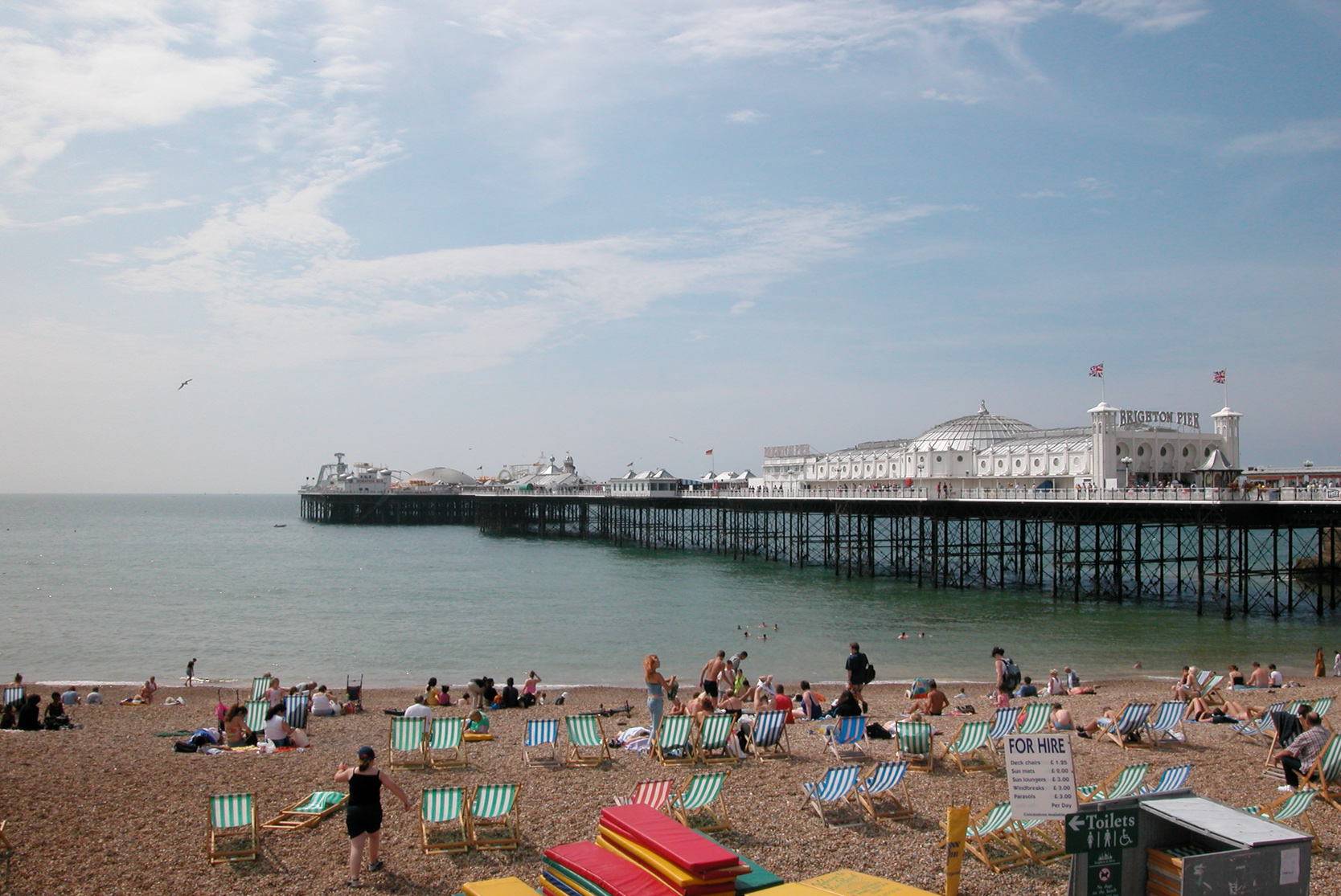 Brighton Pier during the packed summer months