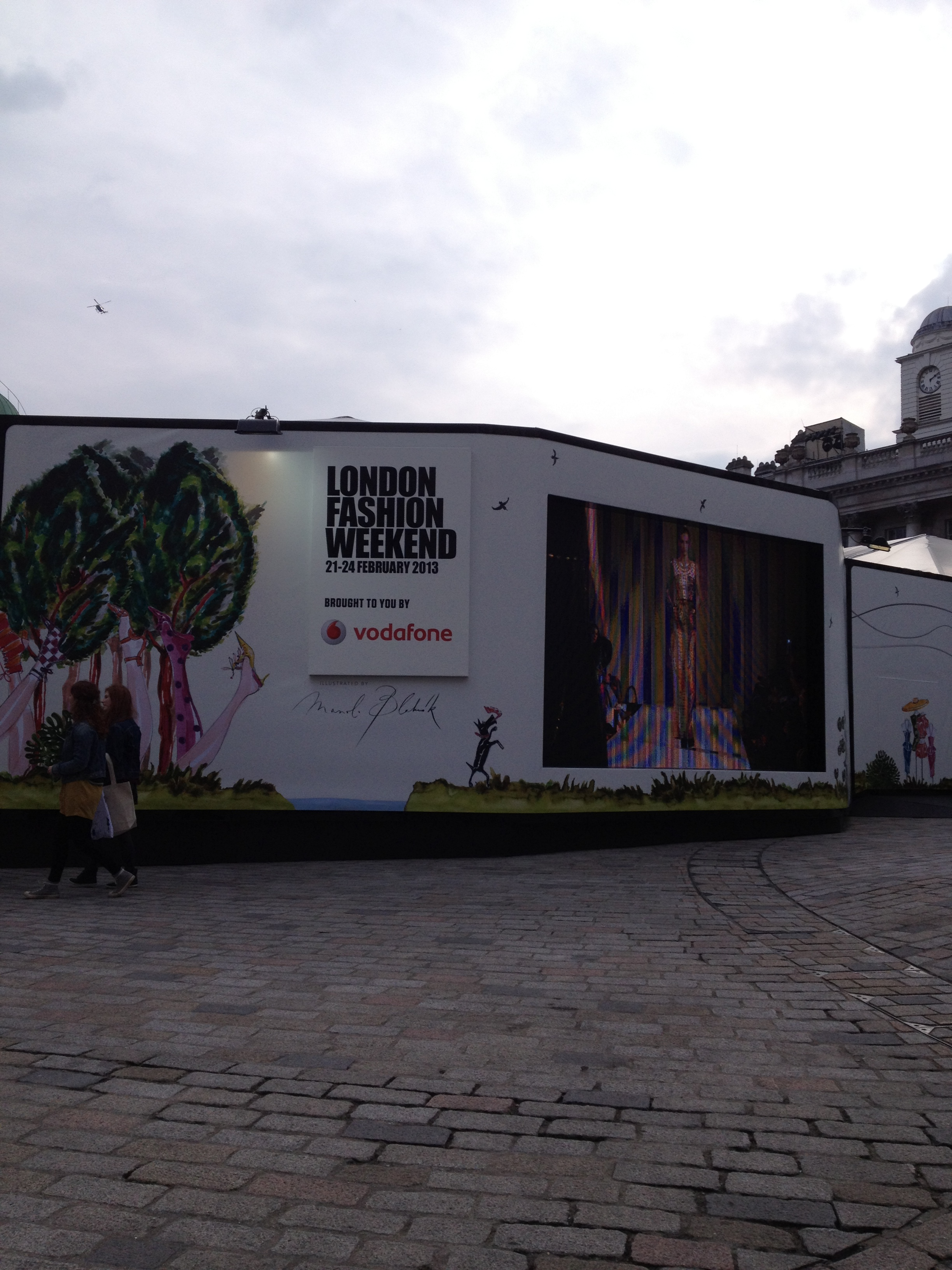 Somerset House LFW tent!