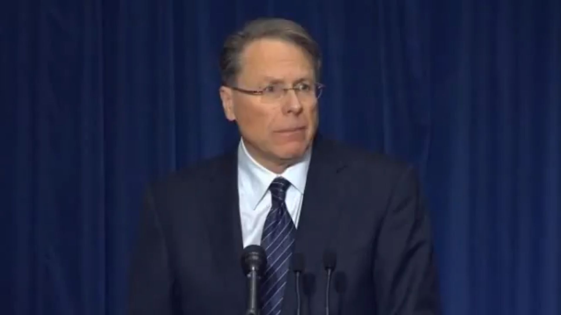 Wayne LaPierre spoke to the American people in a NRA press conference after the Newtown massacre.