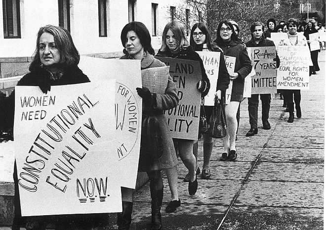 Women protesting for equality