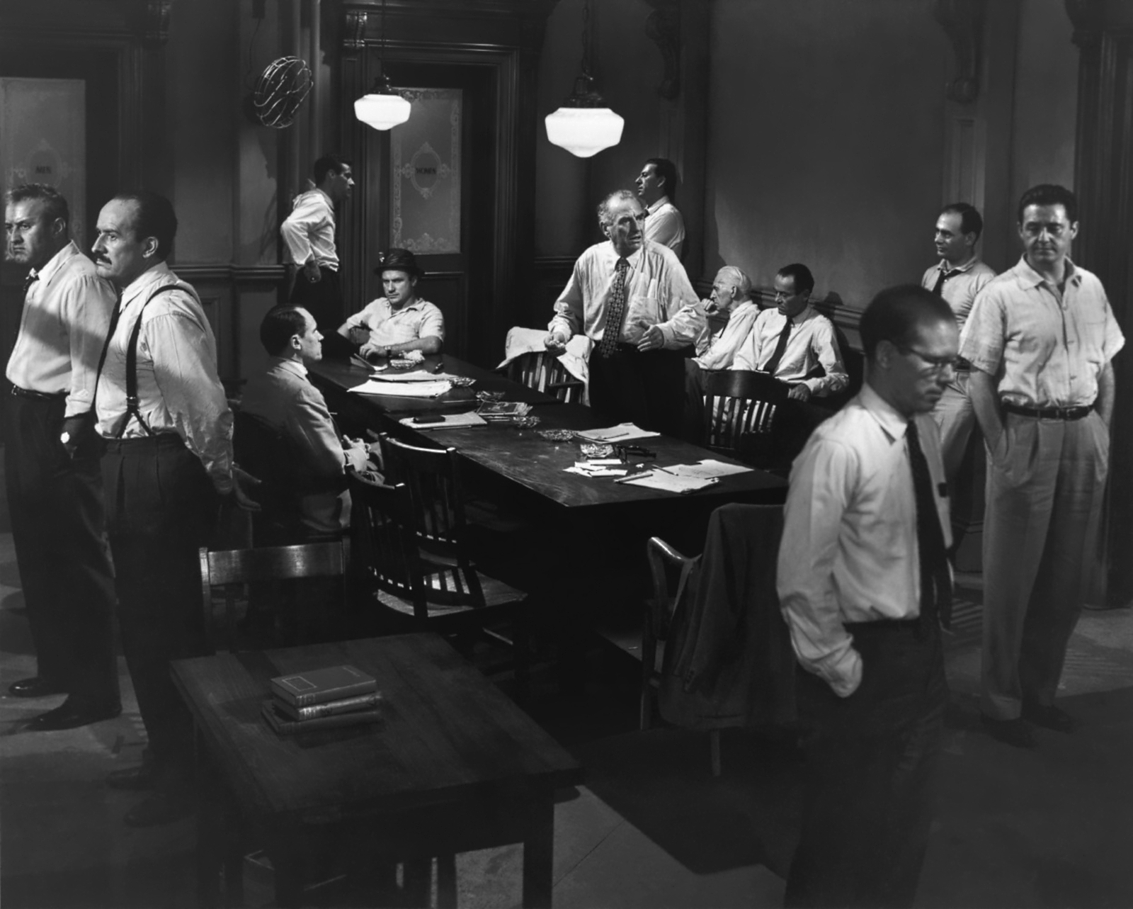 A modern-day cast of 12 Angry Men
