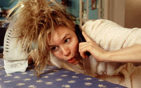 Ironing your hair: Bridget Jones