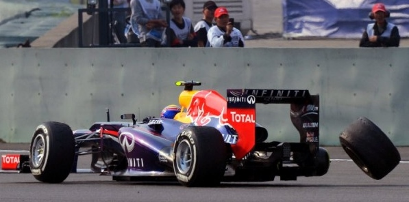 Mark Webber's wheel coming off his Red Bull aMark Webber's wheel coming off his Red Bull at the Chinese Grand Prixt the Chinese Grand Prix