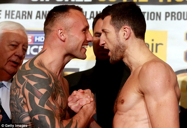 Kessler (left) and Froch go face to face at Fridays weigh in.