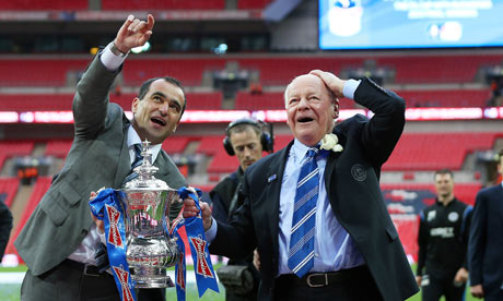 Wigan's Dave Whelan, right, may lose his manager to Everton, a club he thinks is not big enough