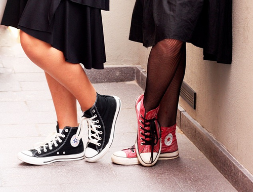 converse and dress