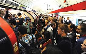Busy London Underground