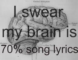 song lyrics brain