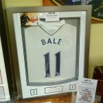 A Gareth Bale shirt as part of the silent auction on the night.