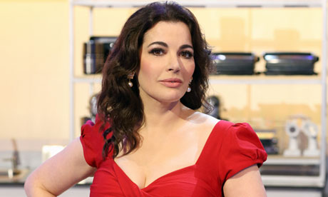 Nigella Lawson in a kitchen