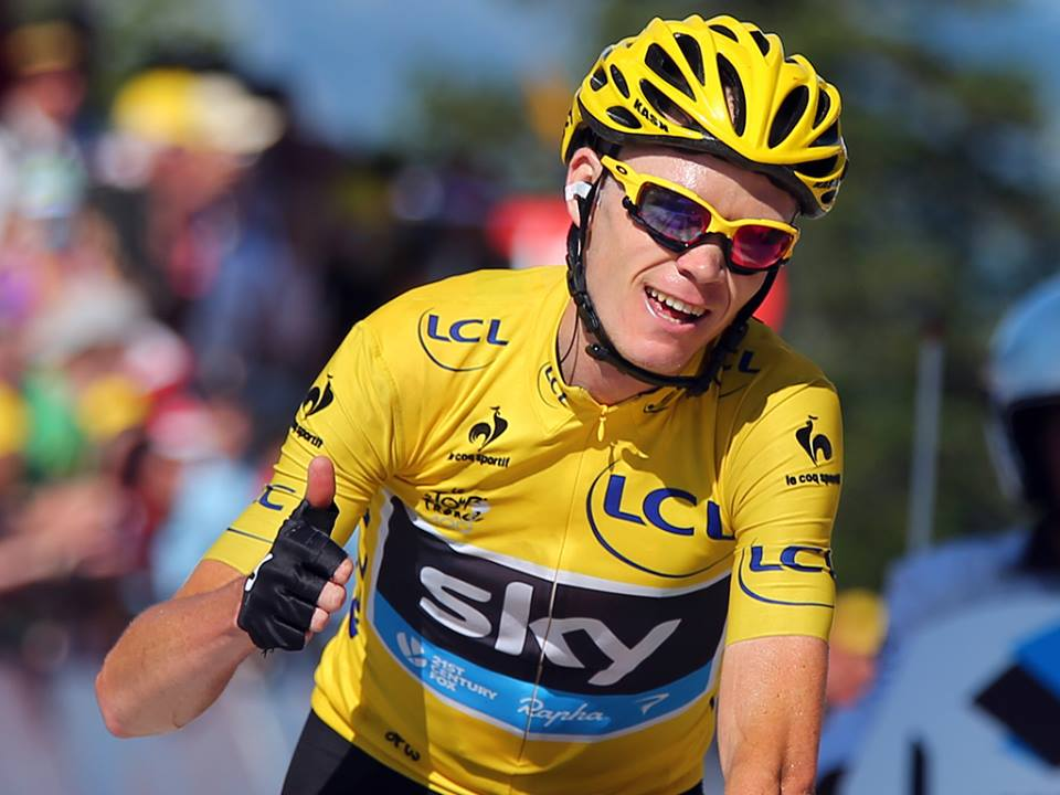 Chris Froome closes in on victory in the 100th Tour de France after finishing 3rd in the penultimate stage