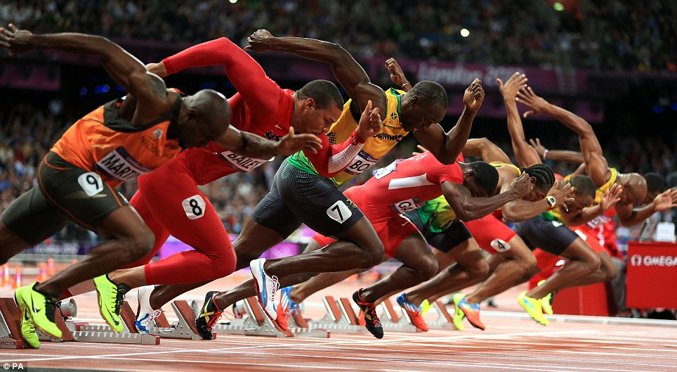 Are the fastest men in the world really that fast?