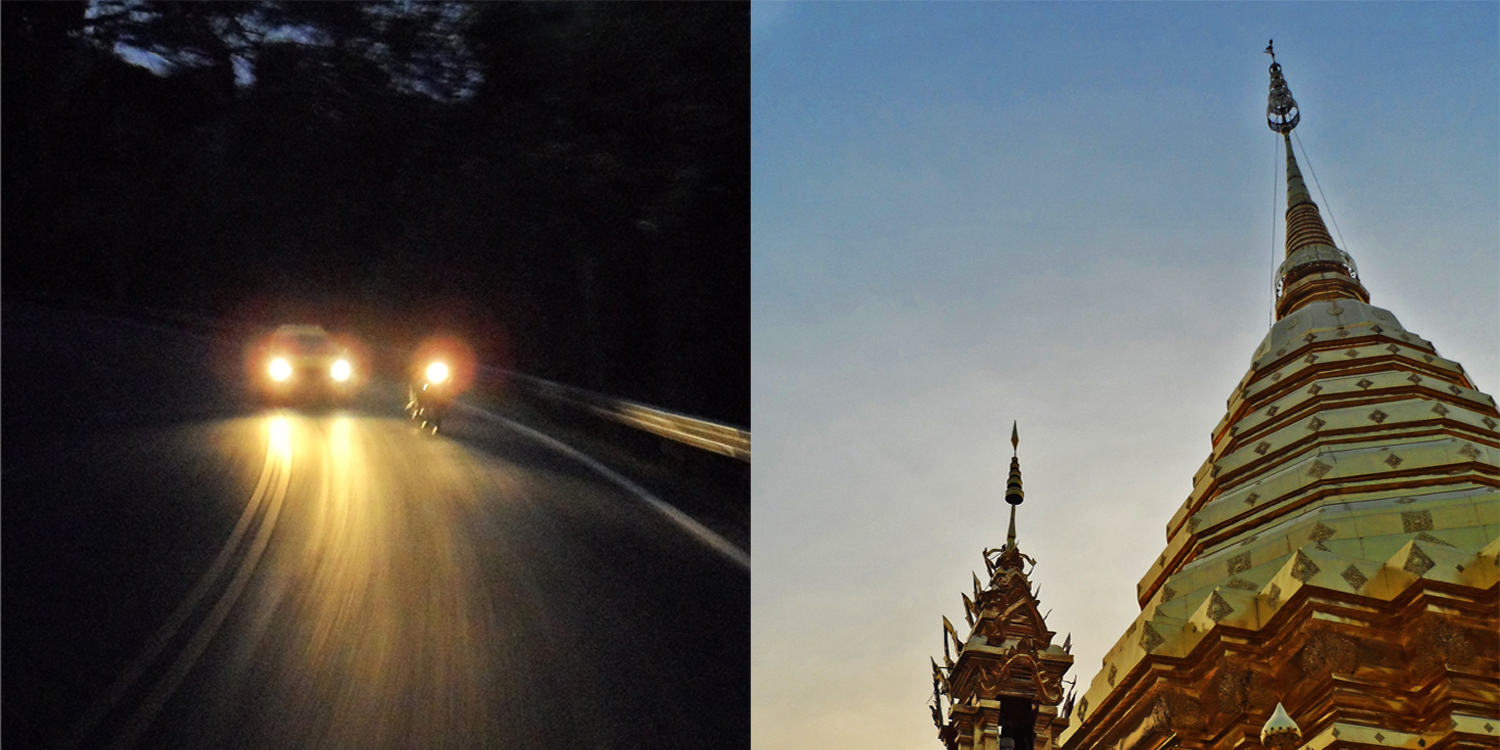 The mountain road and Doi Suthep