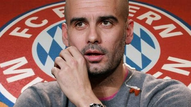 Pep Guardiola and Bayern Munich Badge