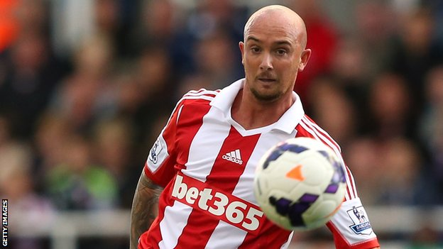 Stephen Ireland scored his first goal for Stoke