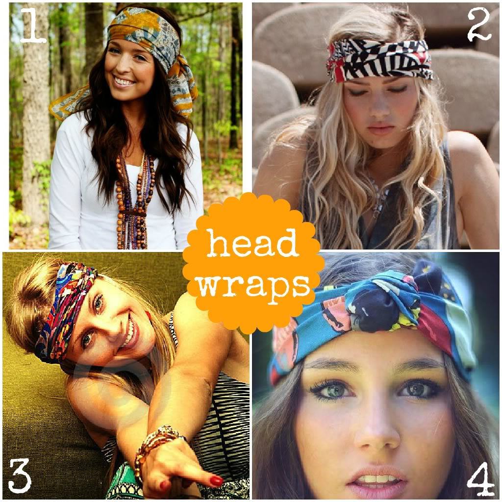 Different ways to style a head wrap.