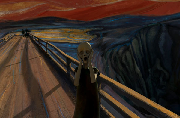Sebastian Cosor's animation of Munch's expressionist painting The Scream