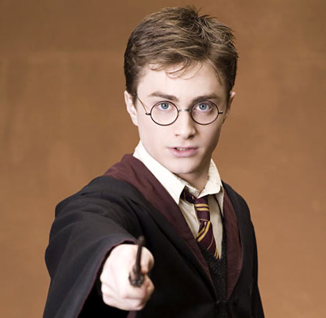 Actor Daniel Radcliffe who played Harry Potter
