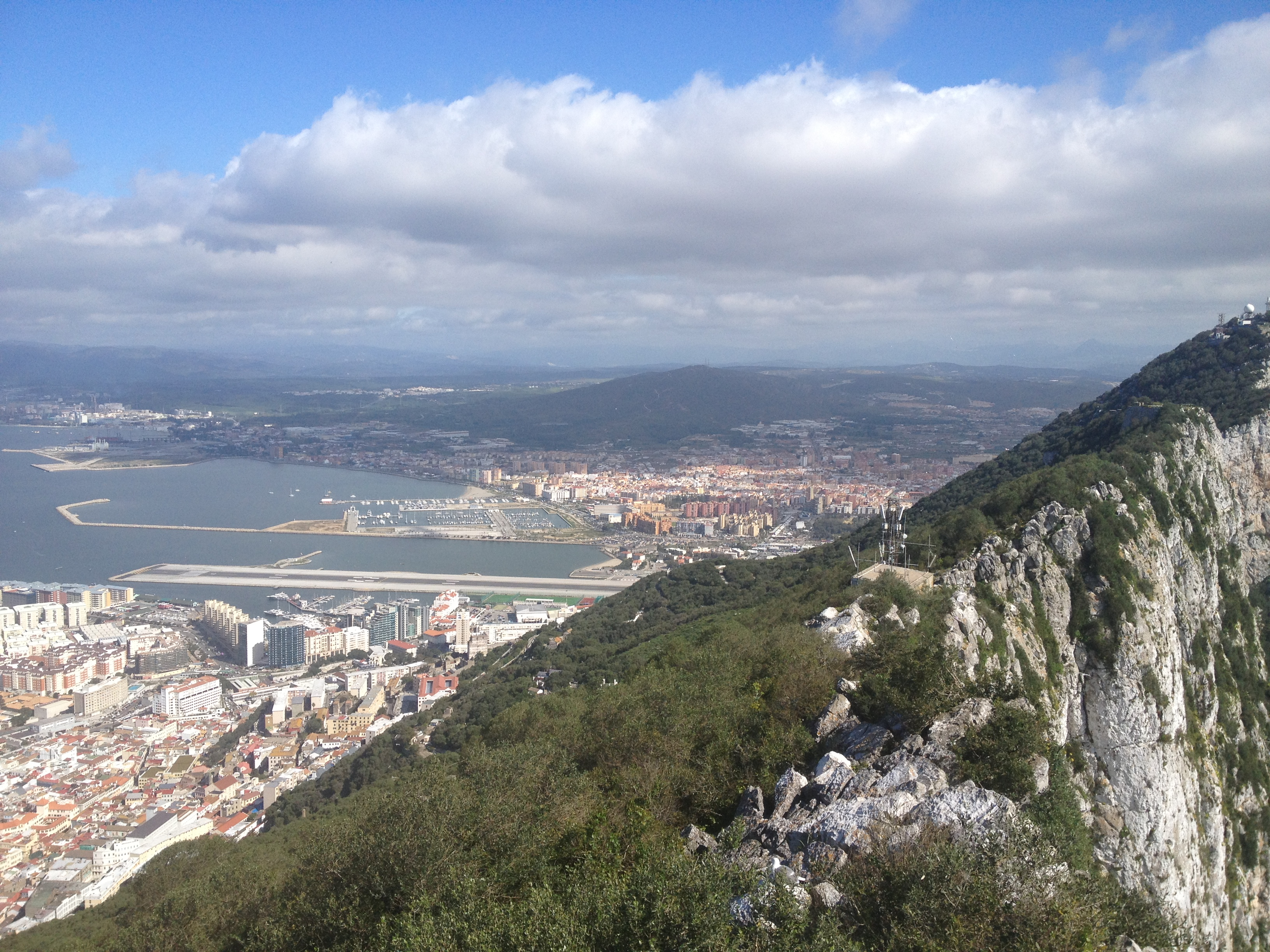 A view from The Rock of Gibraltar looking down onto the town, home to 30,000 people, made up of a mixture of Gibraltarians, British, Spanish, Arabic and Far Easterners. Picture: Sean McKee