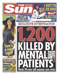 1,200 killed by mental patients – The Sun's shocking headline