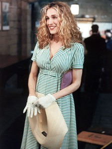 church dress carrie bradshaw 225x300 Carrie Bradshaws Most Iconic Looks