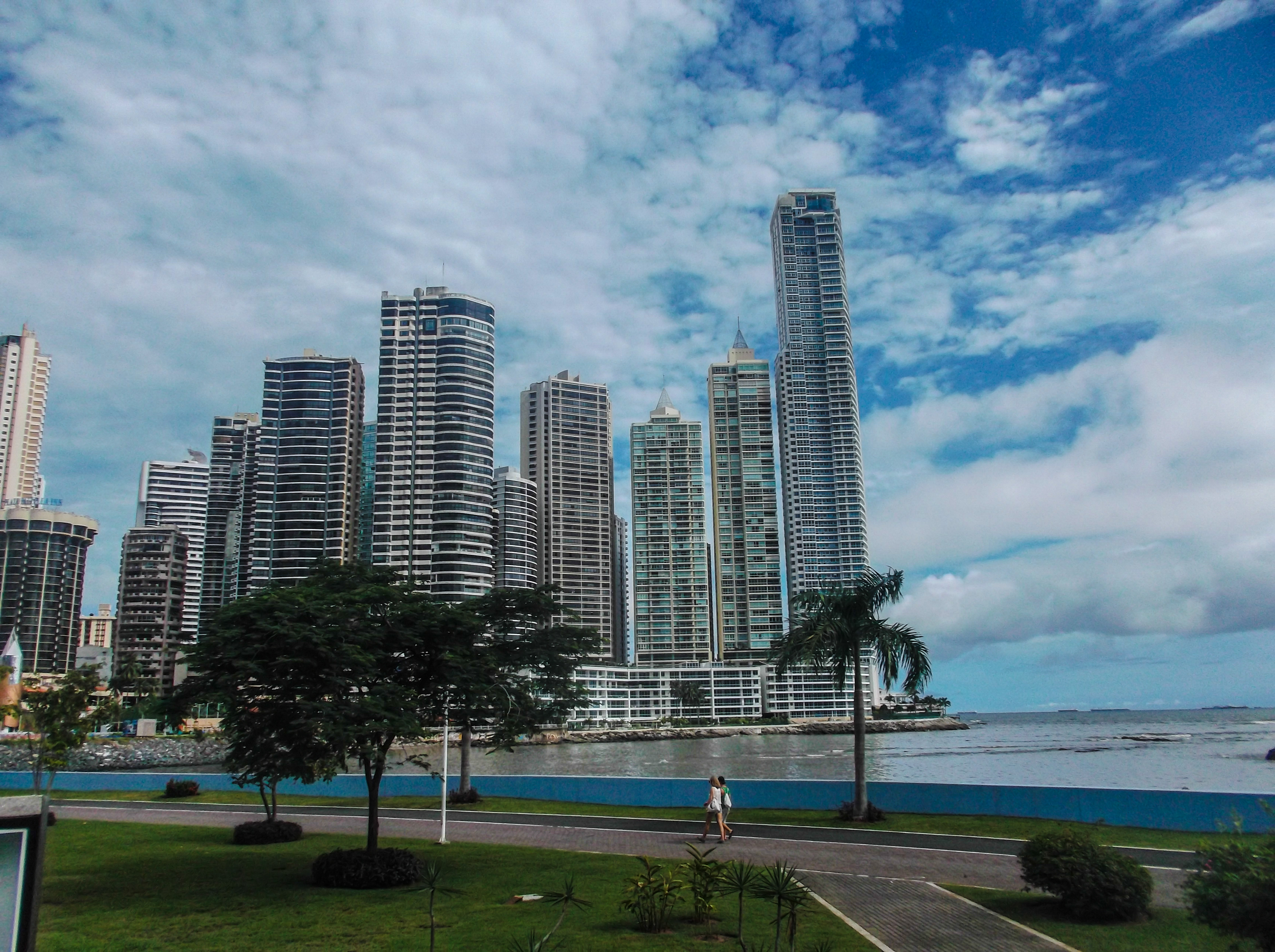 View of the modern side of Panama City