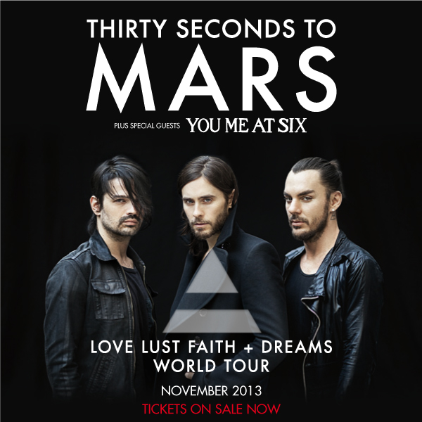 Review: 30 Seconds To Mars & You Me At Six @ Newcastle Metro Radio Arena