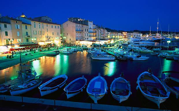 St tropez at night