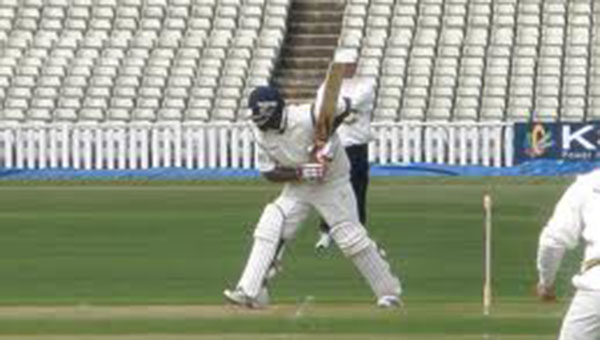 The new England opener Carberry (inset) made 153* against Australia A in Hobart
