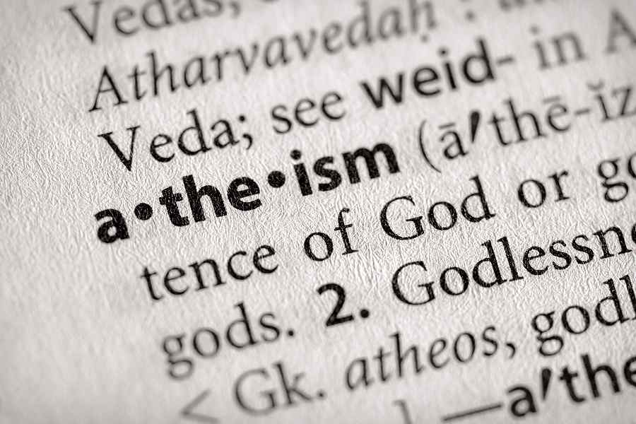 Atheism in the dictionary