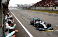 Hamilton crosses the line to win in Shanghai