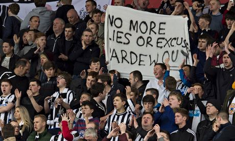 Newcastle fans protest