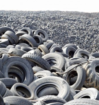 This is only a fraction of the used tyres in the world, imagine the amount of pollution they have already caused