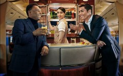Join Pele and Ronaldo aboard the Emirates for the World Cup