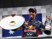 Ricciardo wins at Spa as Mercedes come to blows