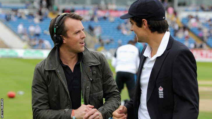 Graeme Swann and Alistair Cook pic