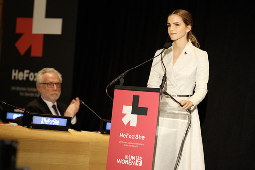 Emma Watson campaigning for the UN HeforShe organisation.