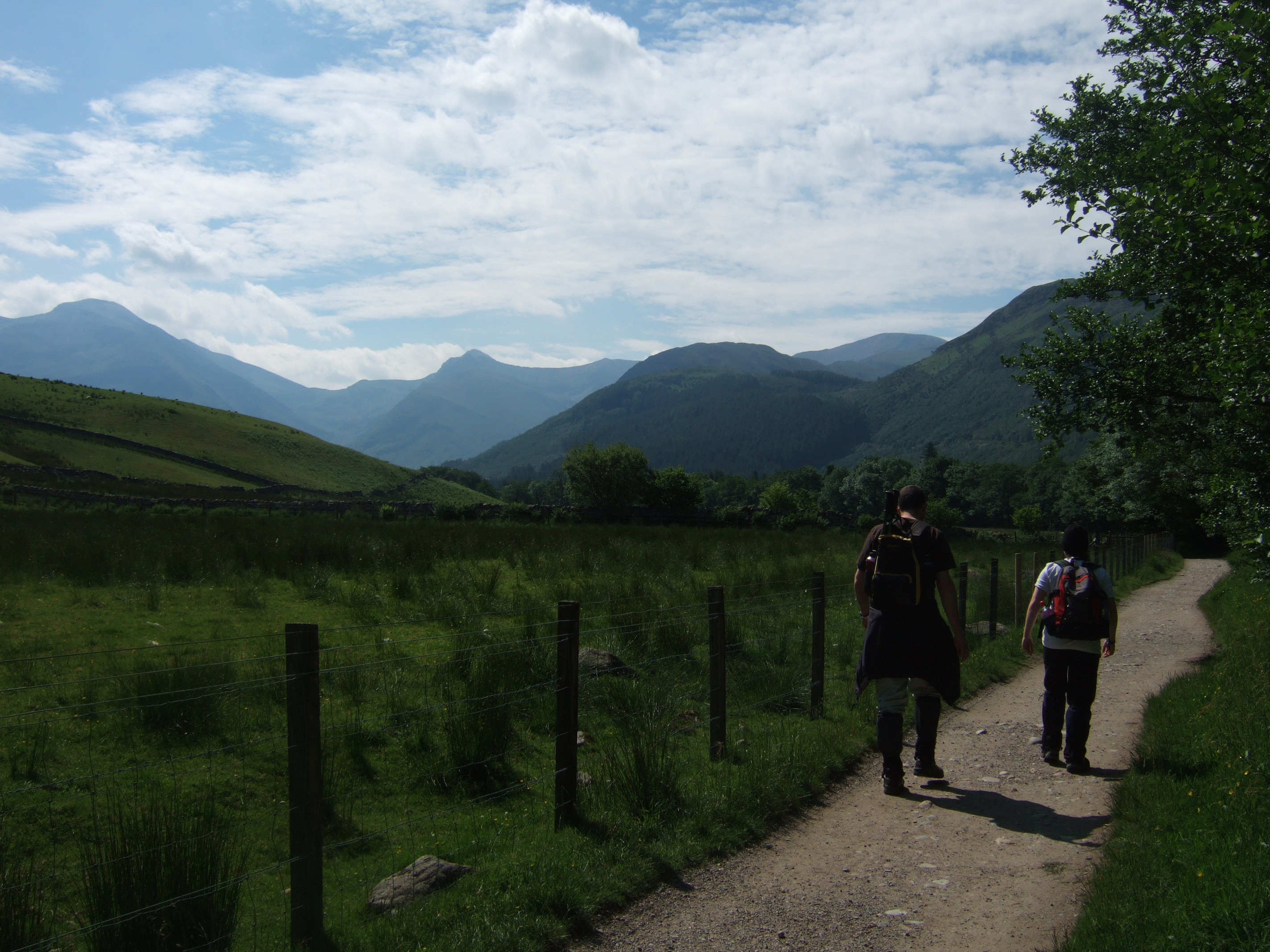 A path at the base of Ben Neivs