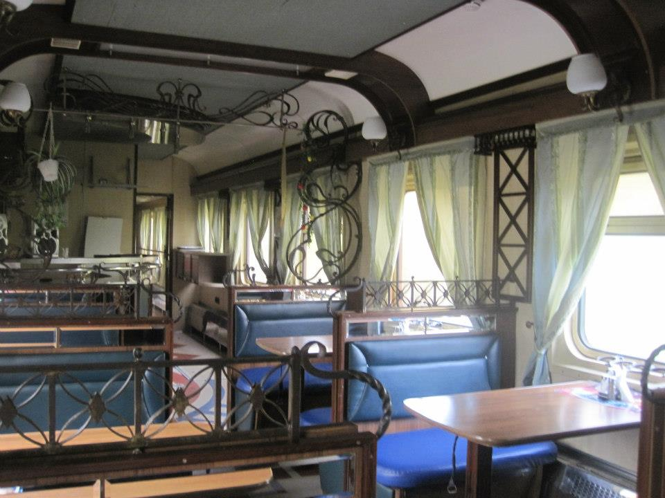 The Russian dining car