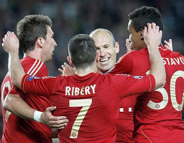 Robben was influential in the German champions' victory at the Nou Camp.
