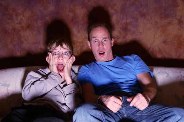 Being scared at a horror film