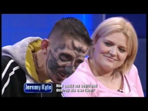 Jeremy Kyle guest with tattoos on his face
