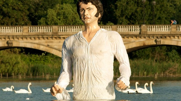 An enormous tribute to Mr Darcy in Hyde Park