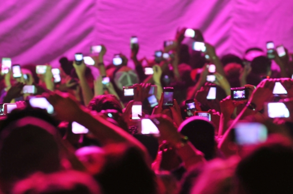 A regular sight at festivals and gigs.